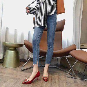 Women's High Heels Pumps Sexy Party Office Ladies Luxury Designers Woman fashion Thin Pointed Toe shoes 210610