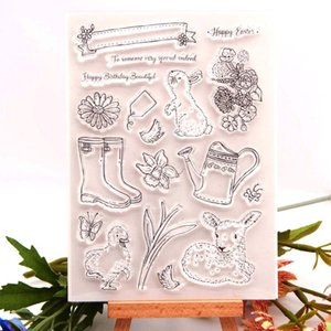 Painting Supplies DMD-Craft Easter Stamp And Dies 2021 Clear With Metal Cutting Die Cut Stencil For DIY Handmade Card Making