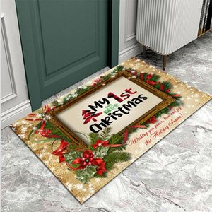 Carpets Christmas Door Mat Entrance Welcome Carpet Floor Stairs Kitchen Corridor Soft Modern Personalized Front Decoration