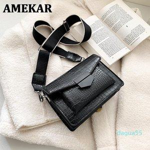 2020 new style mini handbag ladies fashion small bag simple style shoulder bag retro wide shoulder strap messenger wallet