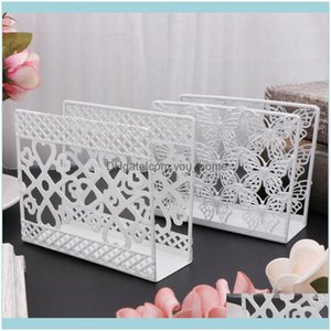 Boxes Napkins Decoration Aessories Kitchen, Dining Bar & Gardenmetal Napkin Serviette Holder Dispenser Rust Resistant Paper Tissue Rack Home