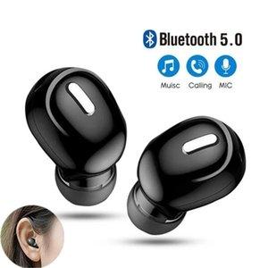 Mini Wireless Bluetooth 5.0 Earphone TWS in Ear Sport with Mic Handsfree Headset Earbuds For Samsung Huawei All Phone Earphones
