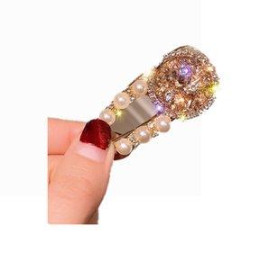 007 New Sparkle hair clip Crystal duck bill clip Women Girls Hair Accessories Beautiful Hair Comb Pin Clips