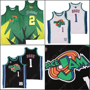 Men's Space Jam Tune Squad #1 Bugs #2 Duck Basketball Jersey Stitched