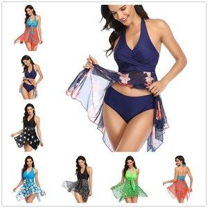 Летние платье Купальники для женщин Бикини набор двух частей танкини купальники сексуальные сплошные сплит женский купальник Springpm Lus размер S / L / M / XL / 2XL