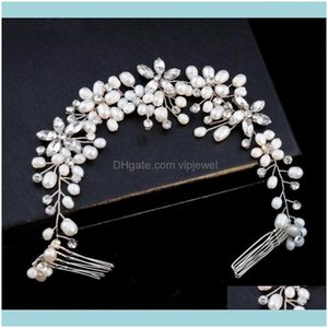 Wedding Jewelrywedding Bridal Headband Comb Crystal Rhinestone Hair Aessories Band Freshwater Pearl Crown Tiara Headpiece Princess Queen Jew