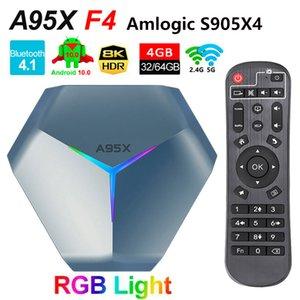 A95X F4 Android 11.0 TV Box Amlogic S905x4 Quad Core Boxes 8K RGB Light Smart TVBOX 4GB 64GB 32GB EMCP Plex Media Server 2.4G 5G двойной Wi-Fi Bluetooth 2G 16G