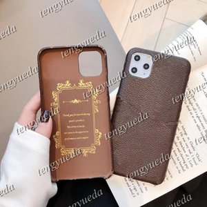 For iphone 13 pro max 12pro 11pro Xs XR Xsmax 7 8plus Fashion Designer Phone Cases Print Leather Card Holder Luxury Cellphone Cover with Metal Letters