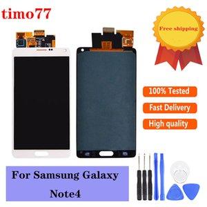 Paneles táctiles de teléfono celular original para Samsung Galaxy Note4 LCD N9100 N910 N910V N910T N910F N910S Pantalla N91 N91 con reemplazo de montaje digitalizador