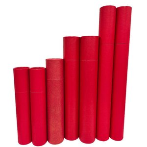 Pcs Red Cardboard Tube For Blueprints Art Container Cylinder Can Poster Painting Mouse Pad Pen A1A2A3A4 Paper Gift Wrap