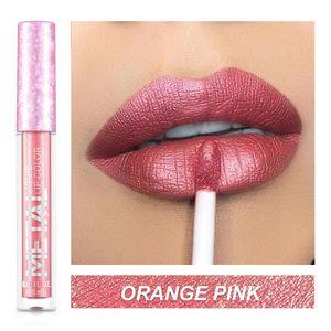 Lip Gloss Glitter Matte Liquid Lipstick Waterproof Shiny Shimmer Metal Tint Non-Stick Cup Lipgloss Long Lasting Makeup
