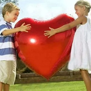 confetti Wedding Large 36 inch 75 cm Heart Film Balloons Valentine's Day Birthday Anniversary Decoration Requirements