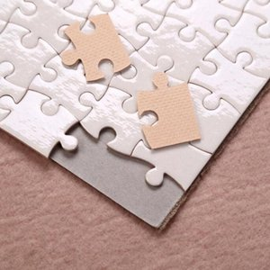 Sublimation Puzzle A5 Size DIY Products Sublimations Blanks Puzzles White Jigsaw 80pcs Heat Printing Transfer Handmade Gift