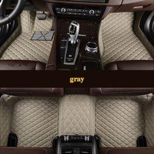 Personalizado para Tesla Modelo S 2014 2015 2016 2017 2017 Flash Pad de couro carro de carro esteira personalizado pé almofada carro carpete carro
