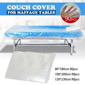 Sheets & Sets 90pcs Bed Transparent Plastic Disposable Cover Waterproof Massage Spa Salon Table Sheet Bath Sauna
