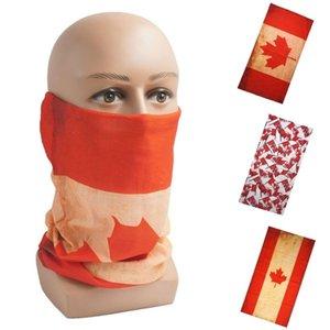 3D Canada Flag Bandana Neck Gaiter Cycling Face Mask Hiking Scarves Headband Summer Balaclava Bufanda Hombre