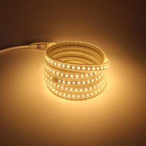 Led m 5730 LED Light Strip Tube 5 10 15 20 25 30 100 Meters Flex Rope With EU Power Cord Plug Warm White Cold Strips