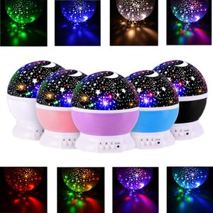 Children's star night light, 360-degree rotating projector night lamp, 8 color Projection lamp, baby bedroom and party decoration table lamp