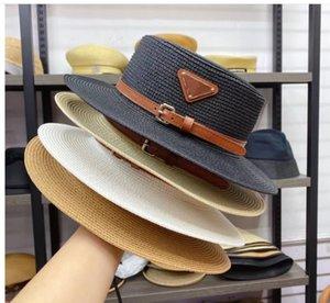 مصمم دلو قبعة قبعة للنساء أزياء السيدات الصيف شاطئ واسعة حافة القبعات المجهزة مع حزام جودة عالية سترو الصياد شمس قبعات