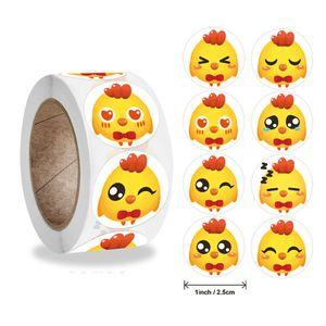 Chicken Happy East Resurrection Gift Children's Reward Label Sticker W8PK723