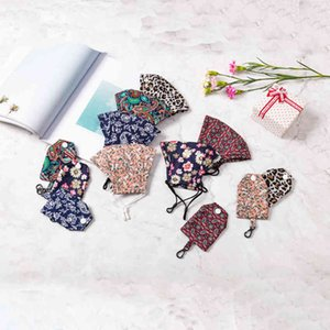 adult Winter floral washable reusable warm paisley protective print leopard face masks with mask organizer storage bag CYZ29022FE5
