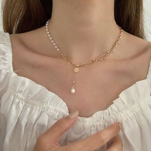 Pendant Korea Dongdamen Fashion Pearl Pendant Clavicle Personality Temperament Net Red Necklace Simple Trend Neck Chain