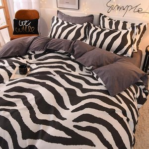 Home Striped Cute Bedding Set Comforter Bed Sheet Simple Sets Kid Teen Linens King Queen Twin