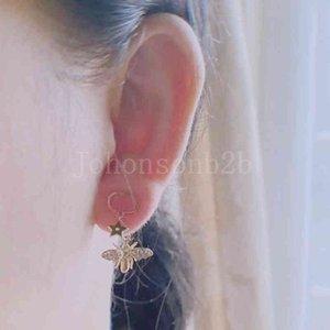 Ohrring CD-Ohrringe baumeln Biene Butterfly Anti-Libelle Allergische Wirkung von Kupfer Silber Nadel für Frauen Mädchen und Lovebbek