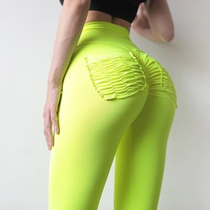 Ruched Seamless Booty Hip Scrunch Women Leggings With Pockets Fitness Leggings Skinny High Waist Push Up Workout Pants 11 Colors
