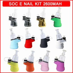 Soc Starter Kit Wax Vaporizer 2600mAh temp adjustable Handheld Smart Desktop Electronic Dab Rig Hookah