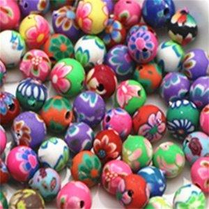 6 ملليمتر 8 ملليمتر 10 ملليمتر الطين الخرز البوليمر مختلط اللون البوليمر كلاي فاصل الخرز للمجوهرات صنع diy اليدوية الحرف 368 Q2