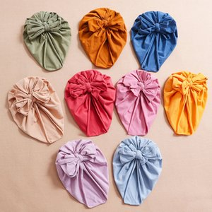Baby Girls boys Bow hat Knot Headwear Children Toddler Turban Hats fashion Kids Accessories Candy colors Caps 9 styles Z2680