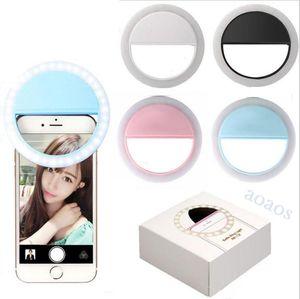 Charger LED Flash Beauty Fill Selfie Lampe Selfie Bague de Selfie Lumière rechargeable pour tous les téléphones mobiles