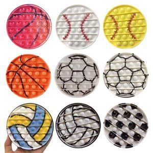 Push Bubble Fidget сенсорные игрушки бейсбол футбол баскетбол смешной рельефный стресс настольная игра Мягкая сжимание игрушка логические рассуждения обучение для взрослых детей