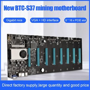 BTC-S37 Riserless Mining Motherboard 8 PCIE 16X Graphics Card SODIMM DDR3 SATA3.0 Support VGA + -Compatible Motherboards
