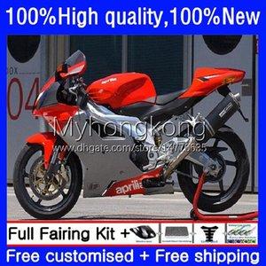 Body Kit For Aprilia RSV1000R Mille RV60 RSV 1000 R 1000R 2003 2004 2005 2006 Cowling 9No.88 Red silvery RSV1000RR RSV1000 RSV-1000 R RR 03 04 05 06 Motorcycle Fairing
