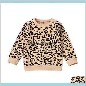 Kids Girls Sweater Toddler Baby Long Sleeve Tops Infant Leopard Printed Pullover Kids Warm Casual Outfits Vêtements Bébé 061204 Xgflo 3N6Pj