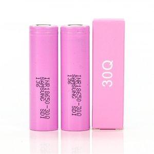 Top Quality INR18650 30q bateria recarregável lamento lítio 18650 baterias com caixa de caixa rosa 3000mAh 3.7V Vape jape poder para Samsung