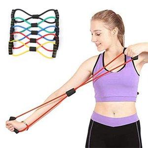 Figure 8 Tension Rope Hand Grippers Indoor TPE Yoga Elastic Belt Chest Open Shoulder Sports Fitness Equipment Beautiful Back Tensioner