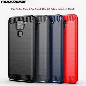 Матовый из углеродных волокон с мягкими чашками TPU для Redmi Note 6 Pro Note5 5PRO 5A Prime Note4 4X NOTE3 CILLICON COVER на мобильный телефон