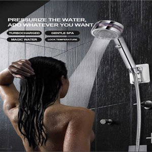 360 Degrees Rotating Double-sided Turbocharged Pressure Shower Head 3 Mode Adjustable Water Saving with Switch ButtonH0916