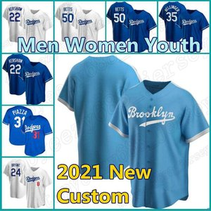 Maglie personalizzate 50 Mookie Betts 5 Corey Seager Dodgers Baseball 27 Trevor Bauer Los Cody Bellinger Angeles Max Muncy Justin Turner Kershaw