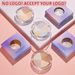NO LOGO!Shimmer Highlighter Powder Glitter Palette Shadow Facial Bronzer High Gloss Illuminator Glow Face Contour Cosmetics