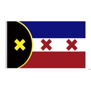 Banderas de la nación de Manberg Banners 3x5ft Polyester Design 150x90cm Indicador de impresión digital con dos ojales de latón OWA4344