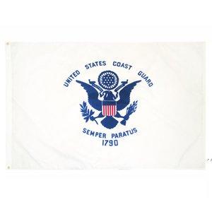 Fabrikpreis-Übergabe 3 von 5 ft Polyester Vereinigte Staaten von Amerikanischen Militär USCG Küste Guard Flag FWD5793