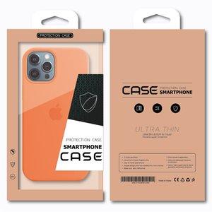 Kişiselleştirilmiş Özel Logo Perakende Ambalaj Kutusu Karft Kağıt Ambalaj Kutusu iPhone 8 XS Için 12 Pro Max Samsung S20 Artı Ultra Telefon Kılıfı için Kapak