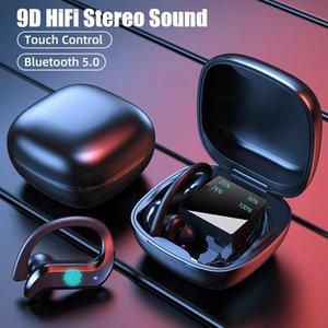 MD03 TWS IPX7 Waterproof Wireless Bluetooth Headset PVC 8.0 Noise Canceling Sports HiFi Stereo Headphones For All Smart Phone Sport Headphones