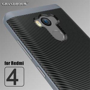 ل xiaomi redmi 4 برو redmi ملاحظة 4 4x حالة ألياف الكربون محكم الوفير pc سيليكون كامل الجسم واقية حقيبة الهاتف غطاء 10PCS