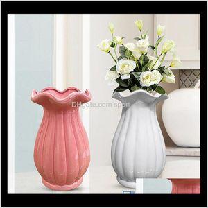 12 * 12 * 20 cm Flor de cerámica Flor de cerámica Encantadora Jardiniere Decoración para el hogar Vasines de cerámica Encajework Soporte de flores RXZF9 YFLHT