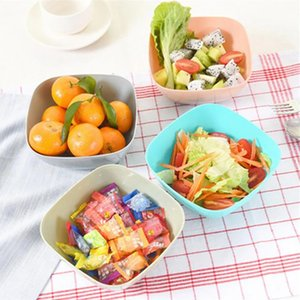 Пластиковая квадратная фруктовая пластина салатница чаша пищевой куртки дыня фруктовая тарелка небольшая закуска конфеты блюдо сухофруктные фруктовые чаши ZZE5218
